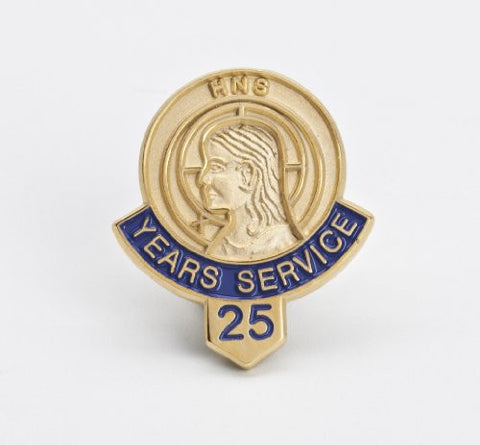 511 25 Year Service/Member Button