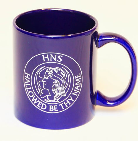 850A HNS Coffee Mug, blue with white text