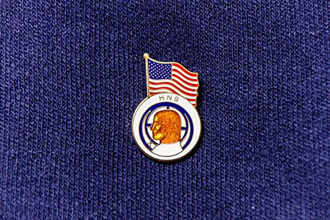 1012 HNS Enamel Lapel Pin with Flag