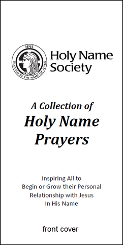 150-100 A Collection of Holy Name Prayers (Pack of 100)