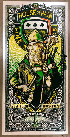 "House of Pain - 18""x36"" St Patrick's Day Boston / NYC"