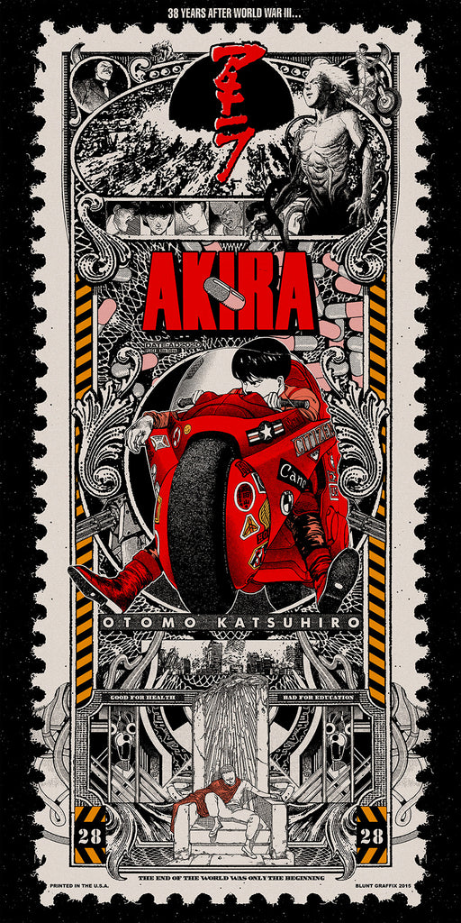 Akira Screenprint by Blunt Graffix