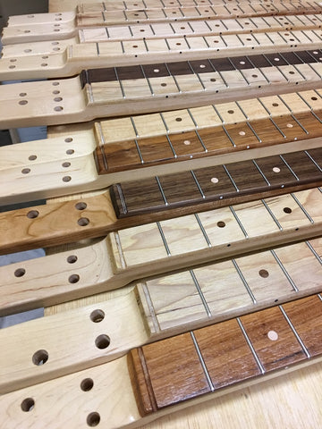 New batch of cigar box guitar necks by Mike Snowden of Snowden Guitars