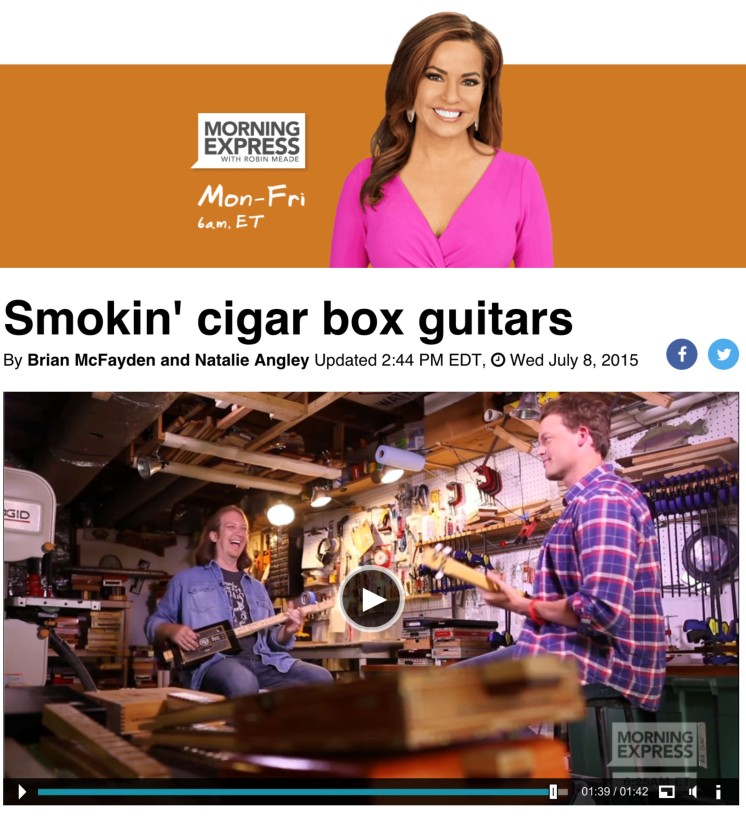 Morning Express Brian McFayden Robin Meade Cigar Box Guitar Mike Snowden CNN