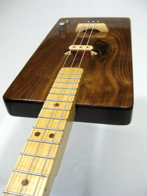 Solid Body 3 String Electric Walnut Guitar #SB4 handmade by Mike Snowden in his Marietta GA shop Snowden Guitars.