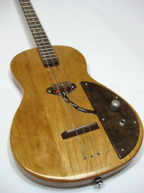Solid Body 3 String Electric Parlor Guitar #SB5 handmade by Mike Snowden in his Marietta GA shop Snowden Guitars.