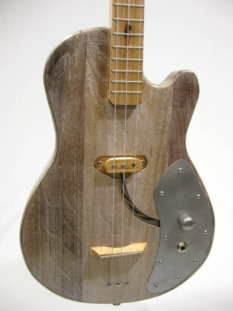 Solid Body 3 String Single Cutaway Guitar #SB12 and Gig Bag