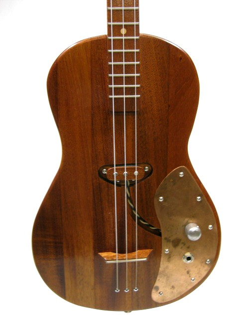 Solid Body 3 String Electric Parlor Guitar #SB11 and Gig Bag