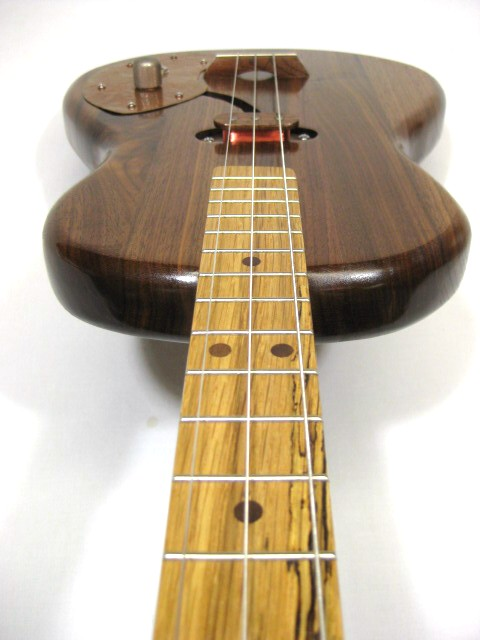 Solid Body 3 String Electric Parlor Guitar #SB2 handmade by Mike Snowden in his Marietta GA shop Snowden Guitars.