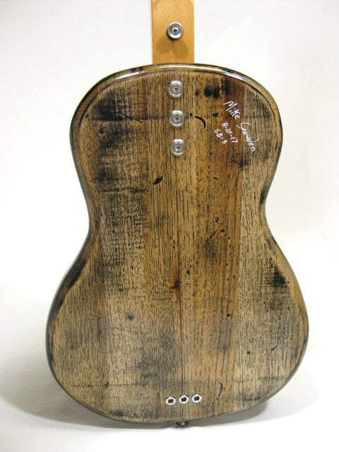 Solid Body 3 String Electric Parlor Guitar #SB3 handmade by Mike Snowden in his Marietta GA shop Snowden Guitars.
