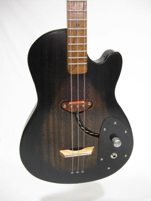 Solid Body 3 String Electric Single Cutaway Guitar #SB8 handmade by Mike Snowden in his Marietta GA shop Snowden Guitars.