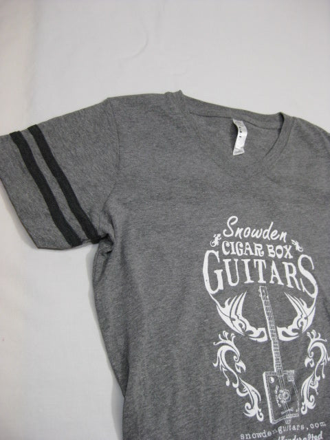 Women's Snowden Guitars Jersey Football Cigar Box Guitar Tribal Chicken T-Shirt