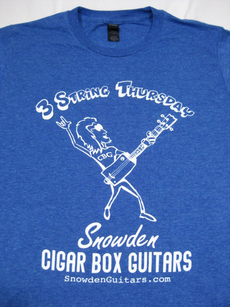 3 String Thursday Cigar Box Guitar T-Shirt