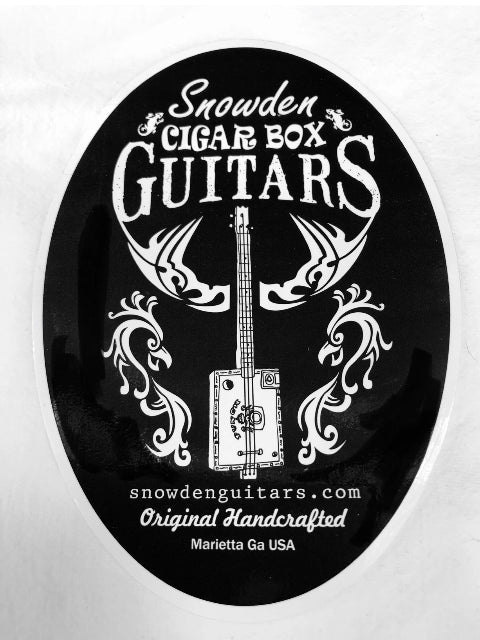 Cigar Box Guitar Sticker CBG Snowden Guitars