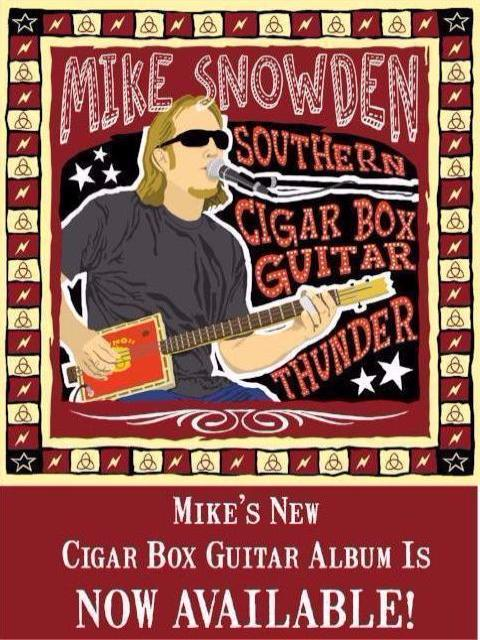Mike Snowden Southern Cigar Box Guitar Thunder