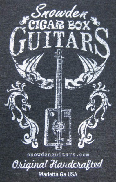 Cigar Box Guitar Tshirt Snowden Guitars T-Shirt