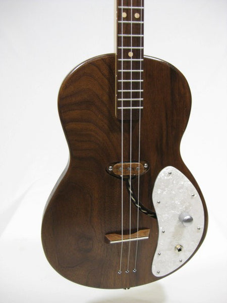 Solid Body 3 String Electric Parlor Guitar #SB17 and Gig Bag