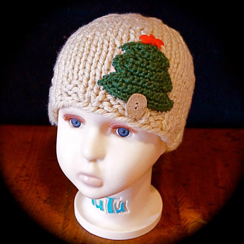 Chunky Knit Christmas Tree Cap