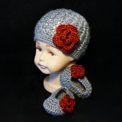 Crochet Steel Baby Set