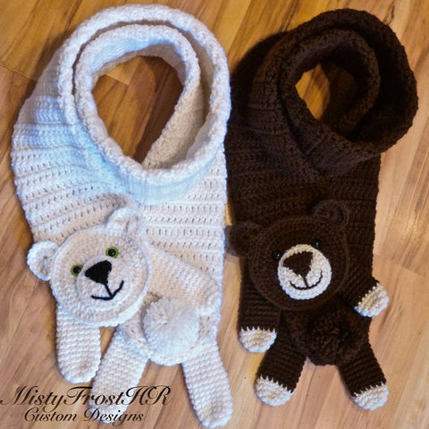 Crochet Bear Scarf