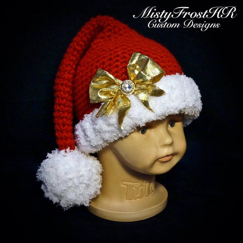 Crochet Santa Hat with or without bow