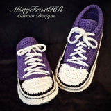 *****     Digital Crochet Pattern     *****     Adult Sneaker Slipper