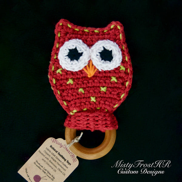 *****     Digital Crochet Pattern     *****     Owl Teether