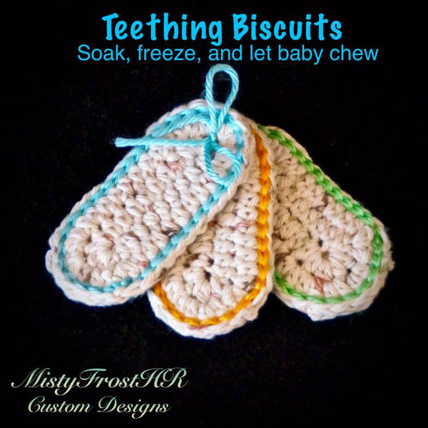 Crochet Teething Biscuits