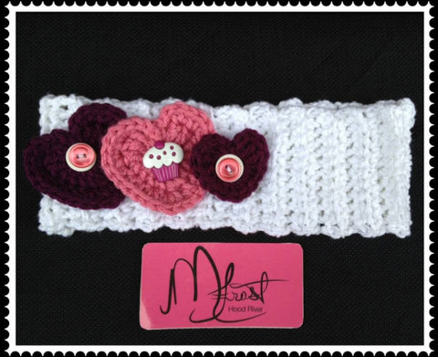 Crochet Sweetheart Headband