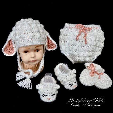 ***** Digital Crochet Pattern  *****  Ava's Lamb Gift Set