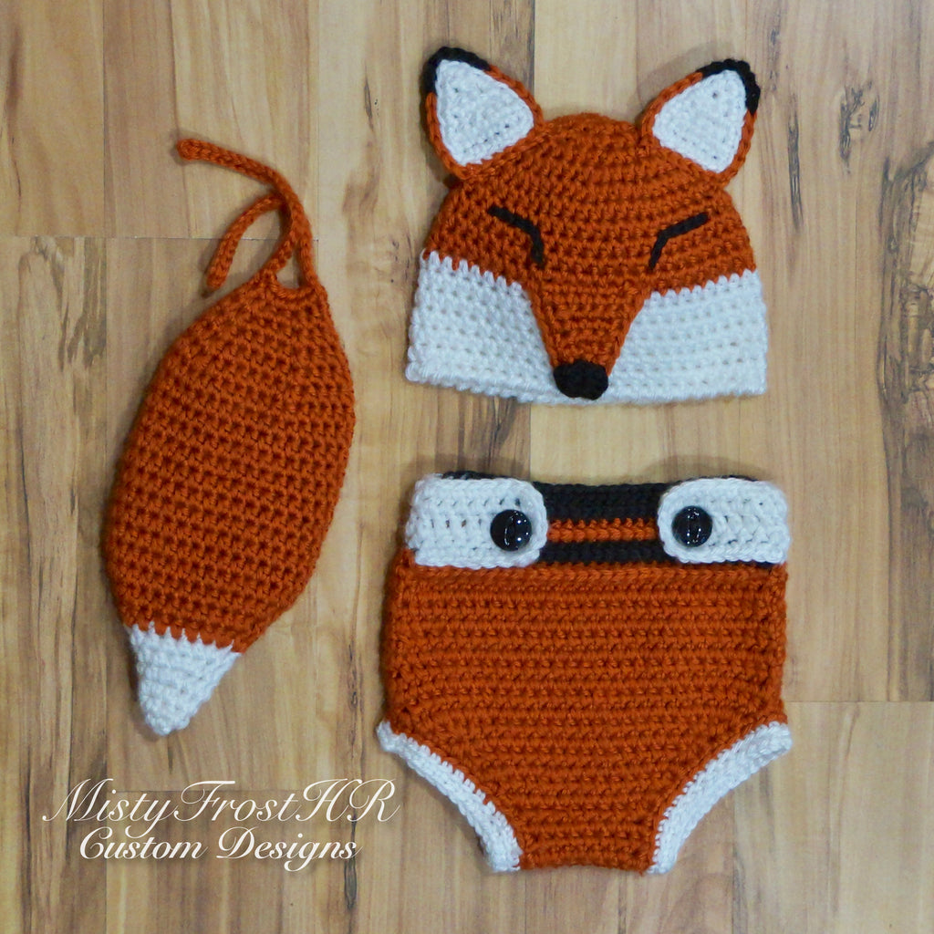 17b86f01027 Digital Crochet Pattern       Kajika The Fox Hat   Diaper Cover ...