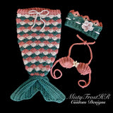Crochet Mermaid Princess Set