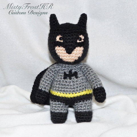 "***** Digital  Crochet Pattern ***** Batman 6-7"" Plush Doll"