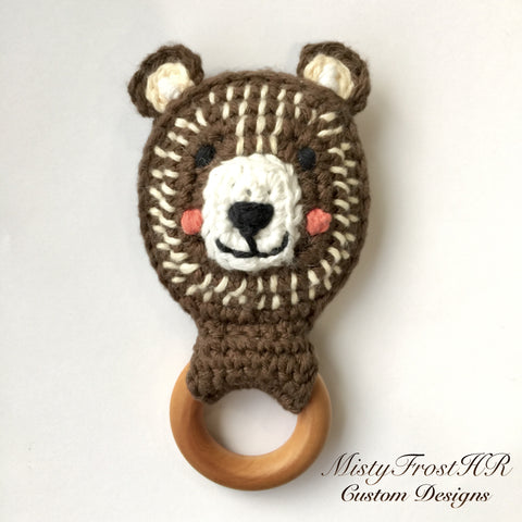 *****     Digital Crochet Pattern     ***** Bear Teether