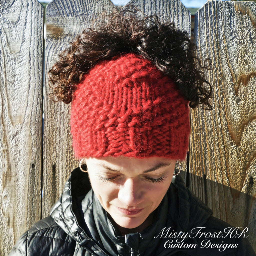 Digital Knit Pattern ***** Chunky Love Messy Bun Hat – MistyFrostHR