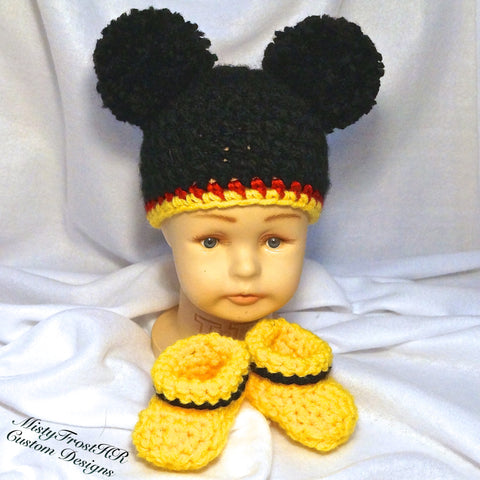 Mickey Mouse Crochet Baby Set