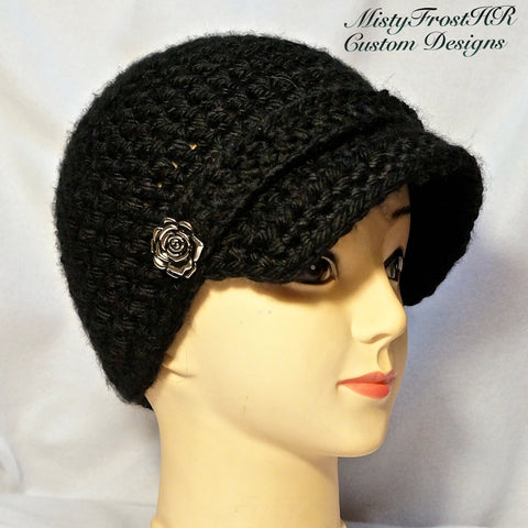 HR Billed Crochet Cap