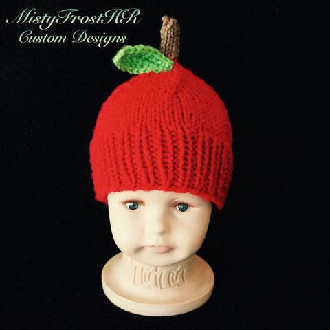 Knit Apple Hat
