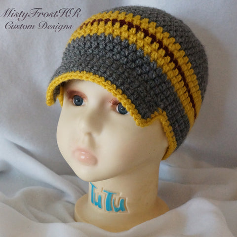 Striped Crochet Ballcap