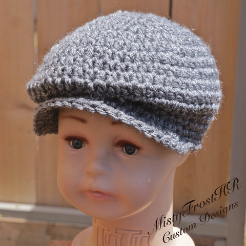 *****     Digital Crochet Pattern     *****     Donegal  / Scally  / Driver Cap
