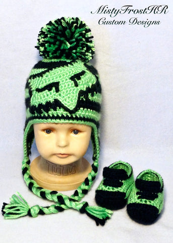 Button Eyed Fox Earflap Hat Baby Set