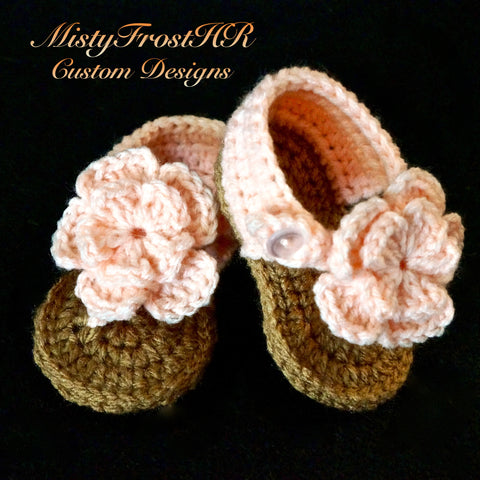 Just Peachy Flower Sandals