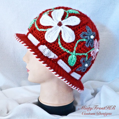 Custom Crochet Cloche/Sunhat