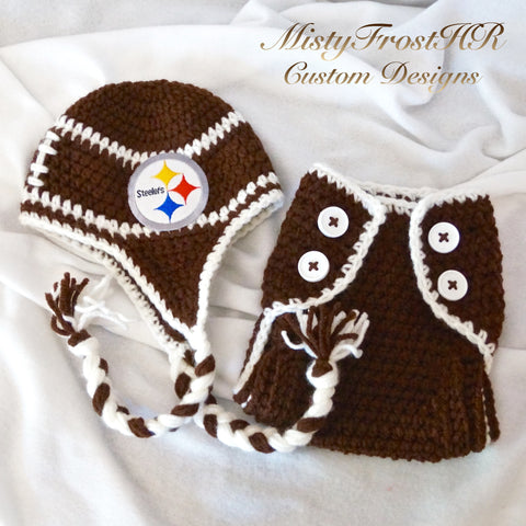 Crochet Football Spirit Wear Set
