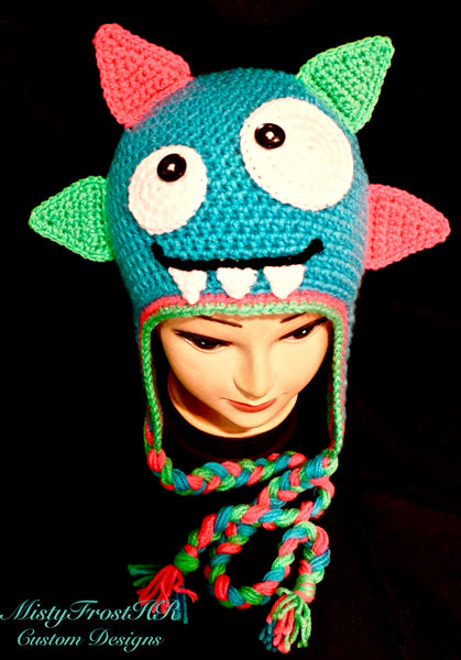 Maxi Monster Crochet Earflap Hat