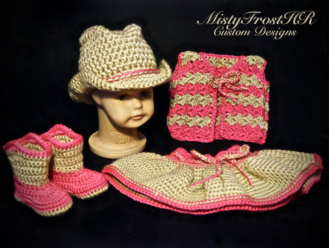 Crochet Cowgirl & Cowboy Set