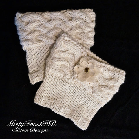 *****     Digital Knit Pattern     *****     Woven Boot Cuffs