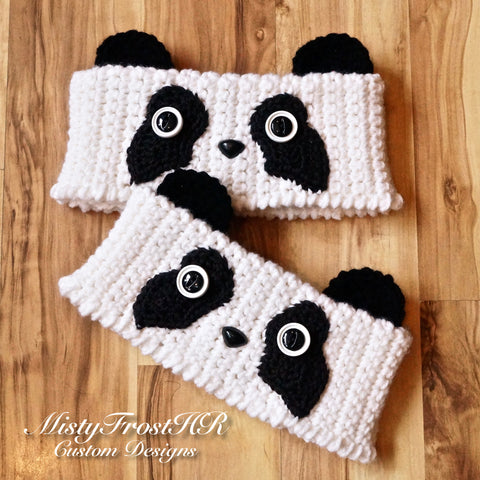 Crochet Perfectly Panda Bear Boot Cuff Toppers