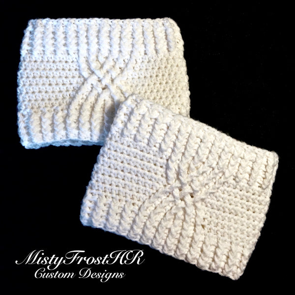 Crochet Celtic Boot Cuffs