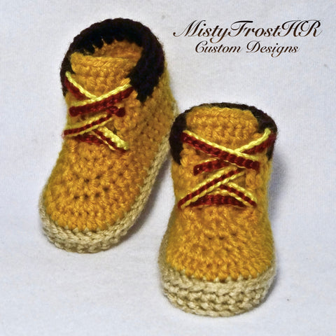 Crochet Timberland Inspired Workboots